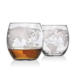 szklanki mapa świata