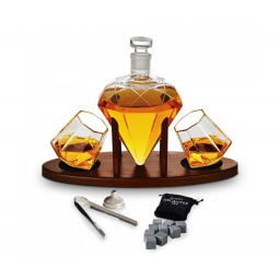 Zestaw do whisky diamentowy z karafką