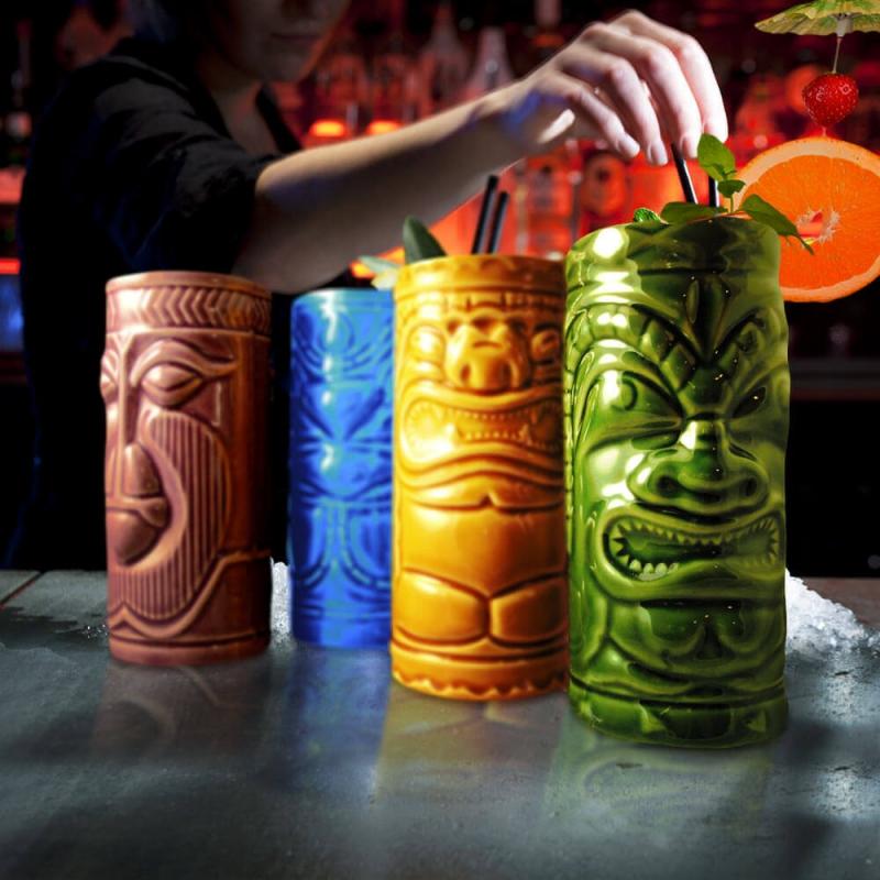 Hawajskie kubki Tiki Mugs zestaw