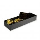 Złota róża pokryta 24 karatowym złotem w opakowaniu