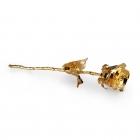 Róża pokryta 24 karatowym złotem
