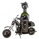 Stojak na wino Motocyklista