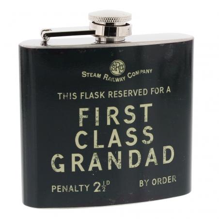 """Piersiówka """"First Class Grandad"""""""