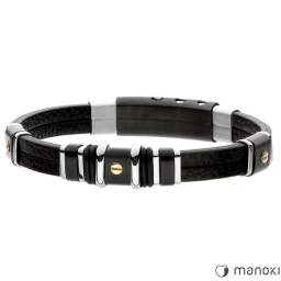 Oryginalna czarna bransoleta Manoki