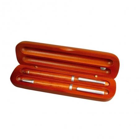 Klasyczny zestaw piśmienny w drewnianym etui