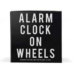 Fantastyczny Uciekający budzik Clocky Czarny