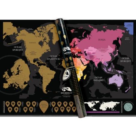 Mapa zdrapka VIP Polska wersja