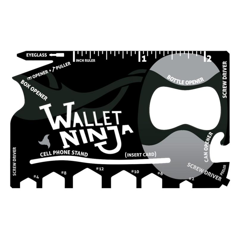 Oryginalny Wallet Ninja, czarny