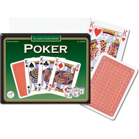 Karty Extra Poker, 5 kości do gry - Piatnik