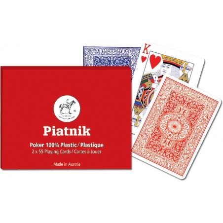 Klasyczne karty do gry w Pokera, 2 talie - Piatnik