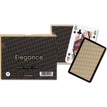 Elegance - karty do gry, 2 talie, Piatnik