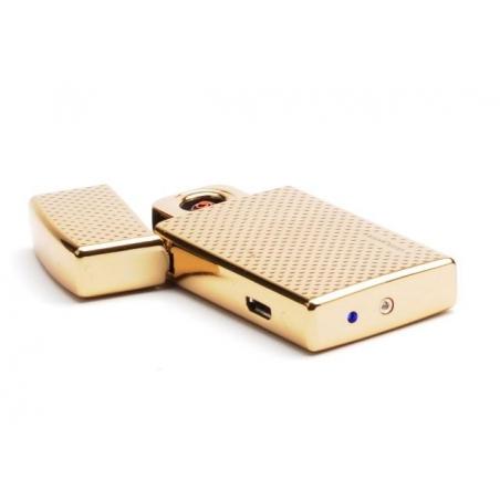 Zapalniczka elektryczna USB, złota, Silver Match