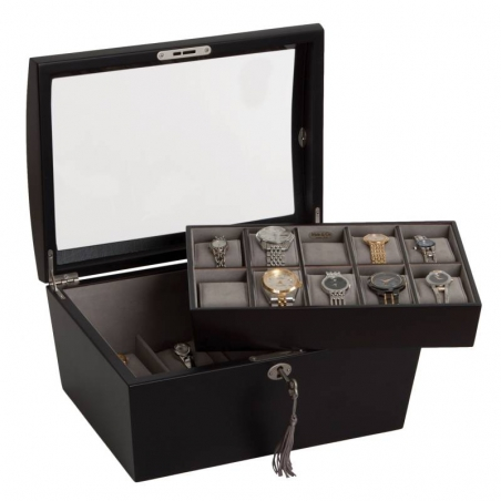 Eleganckie etui, pudełko na zegarki i biżuterię ROYCE Mele & CO