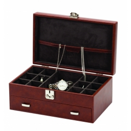 Elegancki skórzany organizer na biżuterię EVAN Mele & CO.