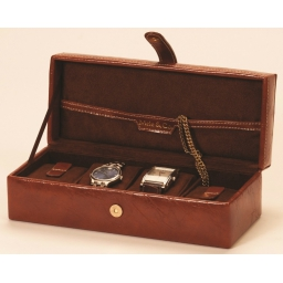 Skórzane pudełko na zegarki
