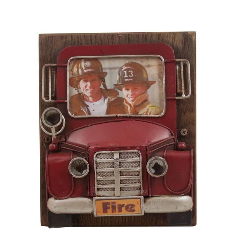 Ramka na fotografię dla strażaka w stylu retro