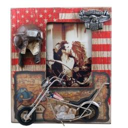 Ramka na fotografię dla motocyklisty w stylu retro