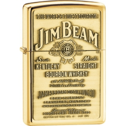 Zapalniczka Zippo Jim Beam Brass Emblem, High Polish Brass