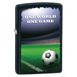 Zapalniczka Zippo One World One Game, Black Matte