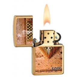 Zapalniczka Zippo Bullets, Brushed Brass