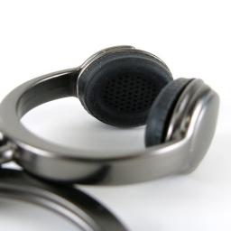 Brelok do kluczy Headphone, słuchawki z silikonowymi nausznikami