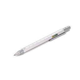Wielozadaniowy długopis Construction, trójkątna linijka w etui