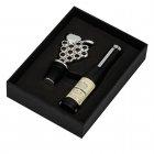Akcesoria do wina, 2- elementy, korkociąg i zatyczka