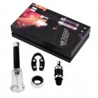 Korkociąg podciśnieniowy z akcesoriami w pudełku prezentowym