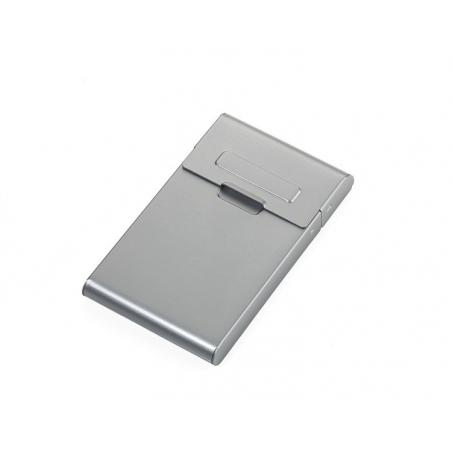 Aluminiowe etui na wizytówki z dozownikiem - TROIKA