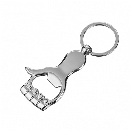 Brelok do kluczy z otwieraczem zamkięta dłoń