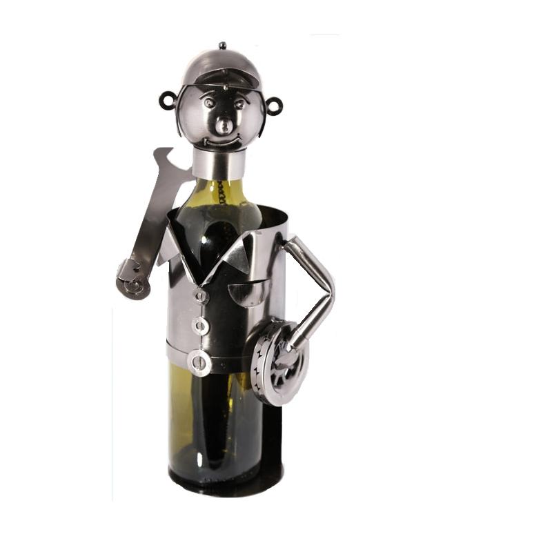 Stojak na butelkę Mechanik z kołem i kluczem