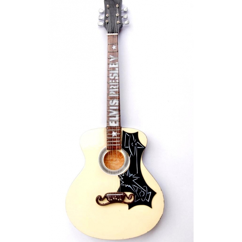 Miniaturowa replika gitary akustycznej j200 Elvis Presley