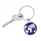 Chromowany brelok do kluczy z mapą kontynentów -TROIKA