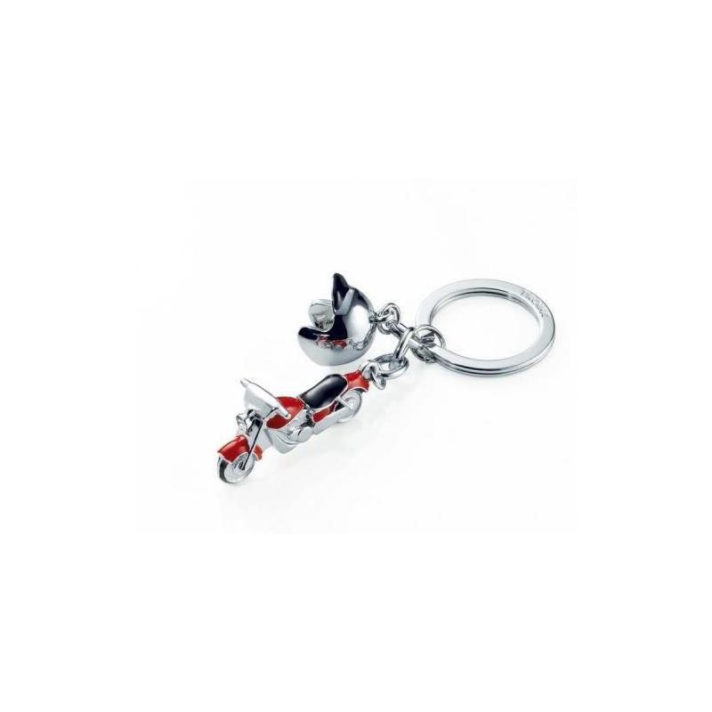 Chromowany brelok do kluczy dla motocyklisty-TROIKA