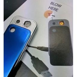 Zapalniczka elektryczna USB Czarna z wzorem Roding Blow Silver Match