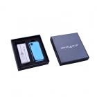 Zapalniczka elektryczna USB Niebieska wzór Roding Blow Silver Match