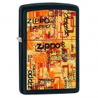 Zapalniczka Zippo Urban Art Words Black Matte