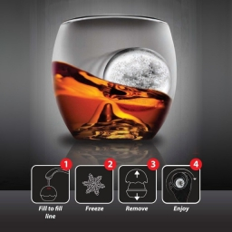 Szklanka do whisky i forma do lodu, zestaw do whisky Final Touch