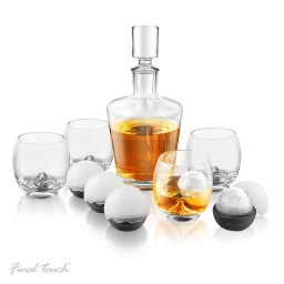 Luksusowy zestaw do whisky karafka, szklanki, kule do lodu Final Touch