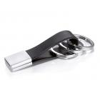 Skórzany brelok do kluczy marki TROIKA Twister stalowy
