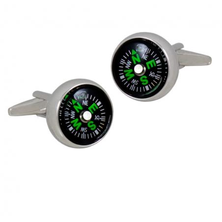 Spinki do mankietów kompas