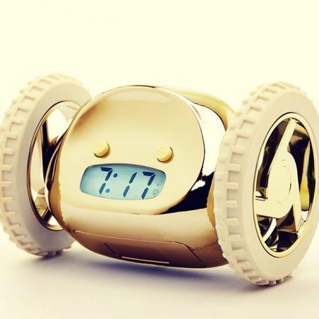 Uciekający budzik Clocky złoty