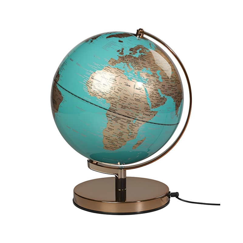 Globus podświetlany Azure Blue Metallic - Wild & Wolf