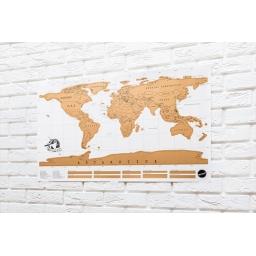 Mapa świata zdrapka wersja Angielska
