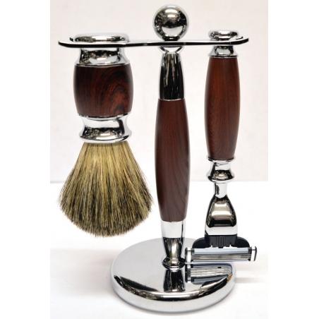 Zestaw do golenia 3w1 mahoń Sarome UK