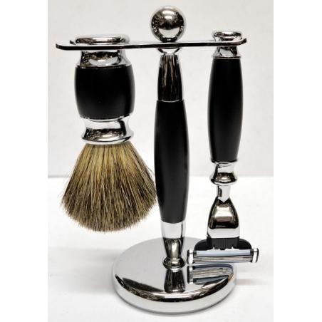 Zestaw do golenia 3w1 czarny mat Sarome UK