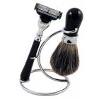 Zestaw do golenia 3w1 czarny akryl Sarome UK