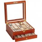 Drewniana szkatułka na 15 zegarków i biżuterię LEWIS Mele & CO