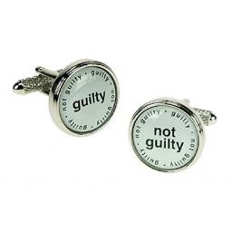 Zestaw spinek do mankietów dla Prawnika Onyx-Art London.