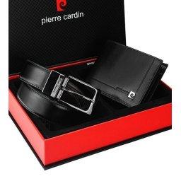 Zestaw prezentowy portfel i dwustronny pasek Pierre Cardin